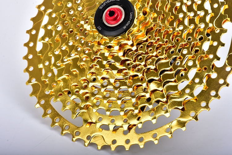 SUNSHINE Golden Mtb Bike Flywheel 11-50T For Shimano and Sram 11 Speed Bicycle Chain wheel Cassette Bike parts