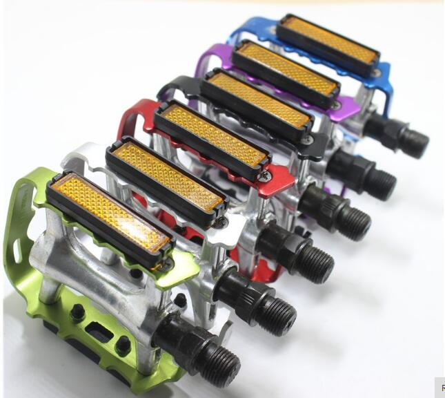 Black Blue Green Red Purple Silver Aluminum Alloy Flat Platforms Pedals BMX Durable MTB Mountain Bike Road Bicycle Pedals