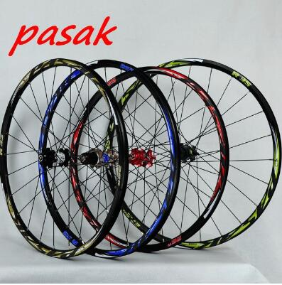 26inch mountain bike bicycle wheel 24H draw front 2 rear 4 bearing japan hub super smooth 27.5inch wheels reflective logo Rim