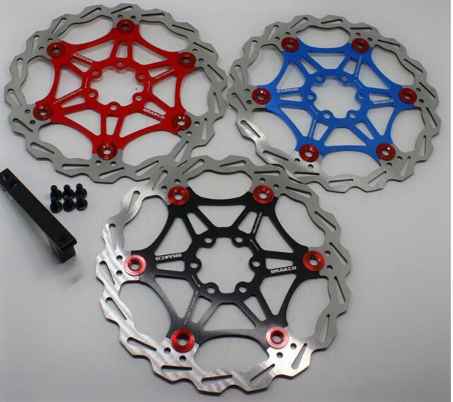 """Bicycle Mountain Bike MTB DH brake Float Discs Chainring 160mm 6 /""""NEW"""