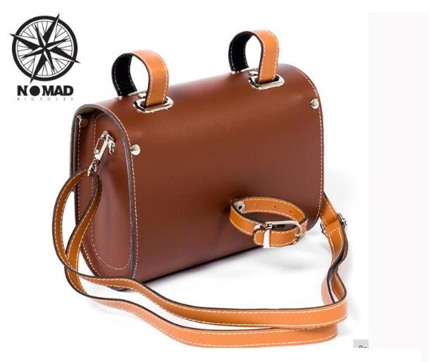 Nomad vintage bicycle female mini bags brief one shoulder women's bags Vintage Brown bag