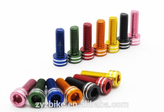 T6-Alloy Water Bottle Cage bolts screws M5x15mm cnc