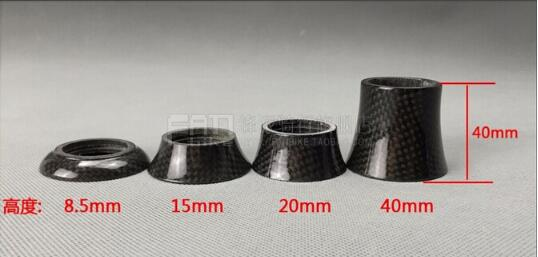Carbon Conical Bike Headset Spacer 8.5MM,15MM,20MM, 40MM for mountain bike road bike