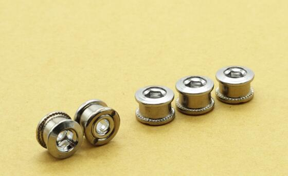 Silver Steel Crank Chainring Bolts&Nuts For Triple