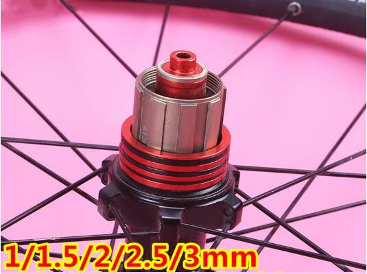 MTB Bottom Bracket Washer Bicycle Flywheel Hub Spacer Gasket 3 Colors Aluminium Alloy Bike Washer 1/1.5/2/2.5/3mm