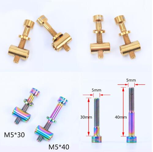 M5x30/40mm Seat Post Bolt Titanium Alloy Thomson Seatpost Bolt Bicycle Screw Bike Parts