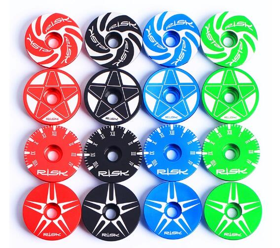 Colourful CNC Aluminum Bicycle Headset Cap For Mountain Road Bike 1 1/8