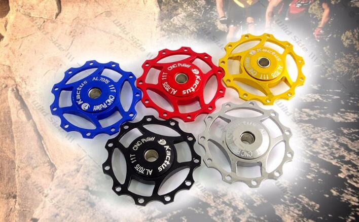 Rear Derailleur Jockey Wheel 11T AL7075 MTB Road Bike Bicycle Guide Roller Inner Diameter 5 Colors for 7 8 9 10 Speed