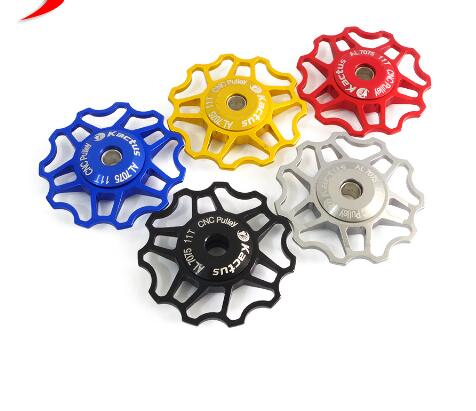 Cycling Jockey Wheels Rear Derailleur Guide Roller Mountain Road Bike Bicycle Aluminum Pulley 5 Colors CNC Crafts