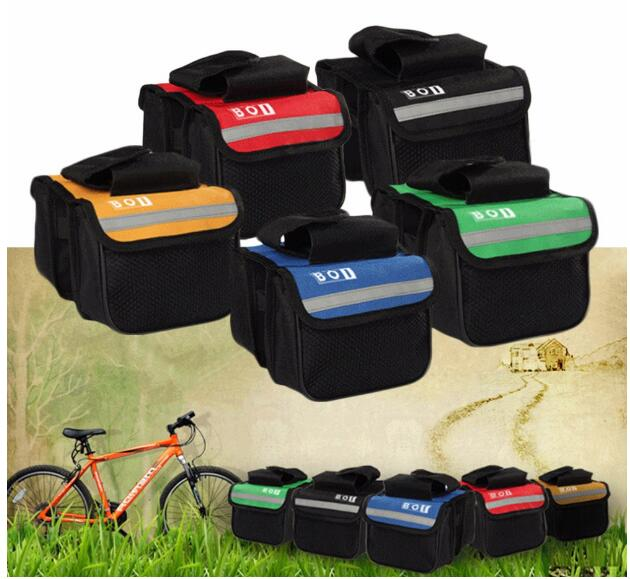 15* 11.5*5cm 2L Bicycle Cycling Bag Bike Top Tube Saddle Bag Bicycle Frame Pannier Bag Rack Bicycle Accessories