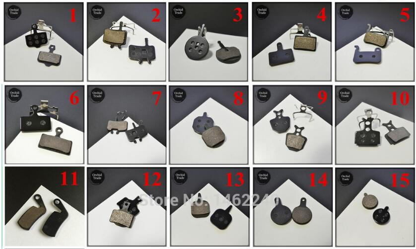 MTB bicycle bike cycling disc brake pads semi-metallic brake pads for SHIMANO AVID HAYES TEKTRO Magura Formula