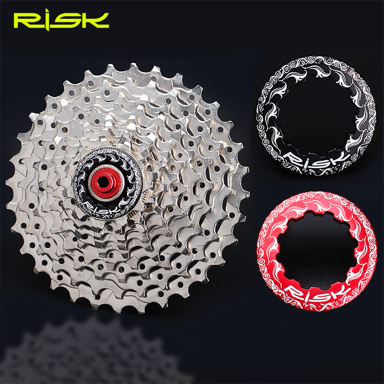 2017 RISK aluminum cnc 11T bike flywheel lock Nuts for shimano and sram 11 soeed cassette 2 color